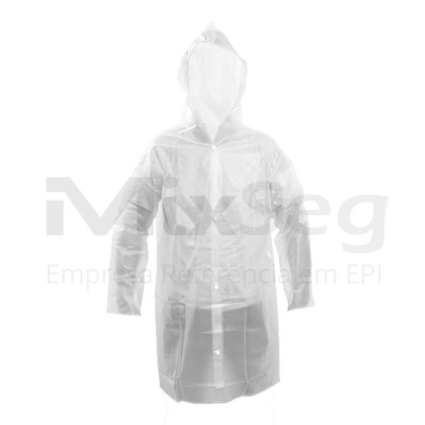 Capa de Chuva com Capuz Reforçada Transparente