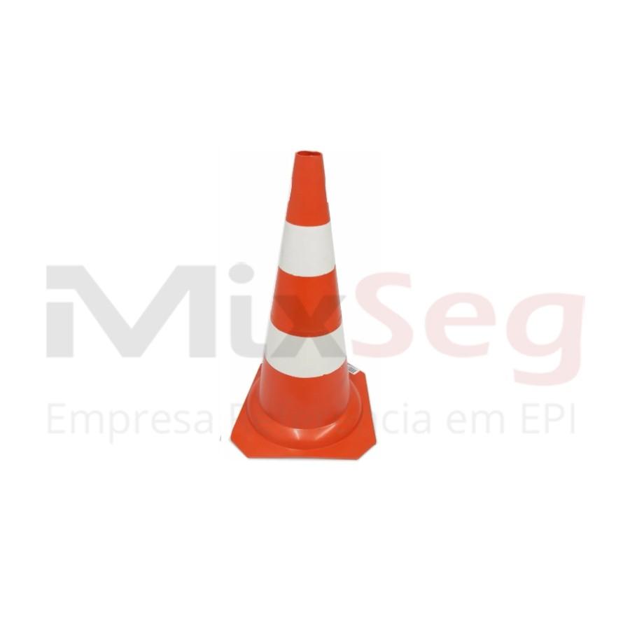 Cone Flexível Laranja com Refletivo 50cm