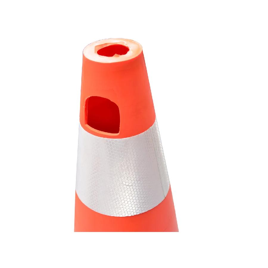 Cone Flexível Laranja Com Refletivo 75cm