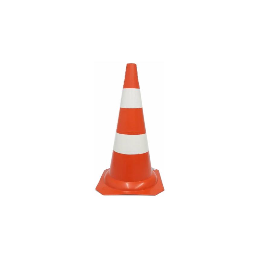 Cone De PVC Laranja/Branco 50cm