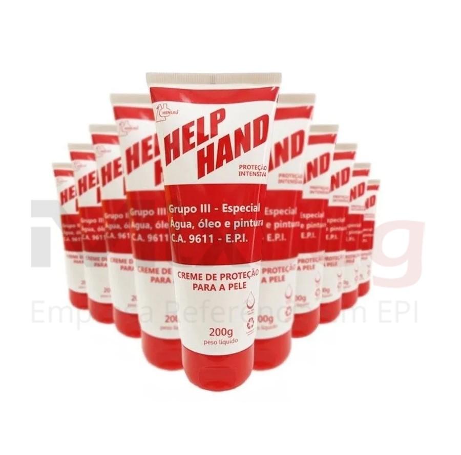 Creme Protetor Para Mãos Help Hand Grupo 3 Luva Química