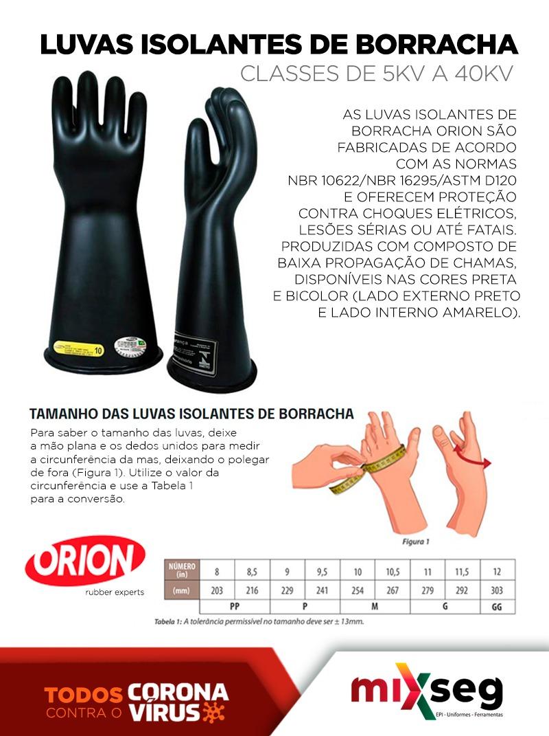 Luva Alta Tensão Orion Classe 00