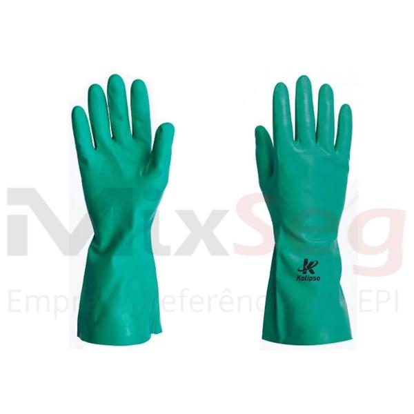Luva Nitrílica Forrada Verde KA10 M - Kalipso