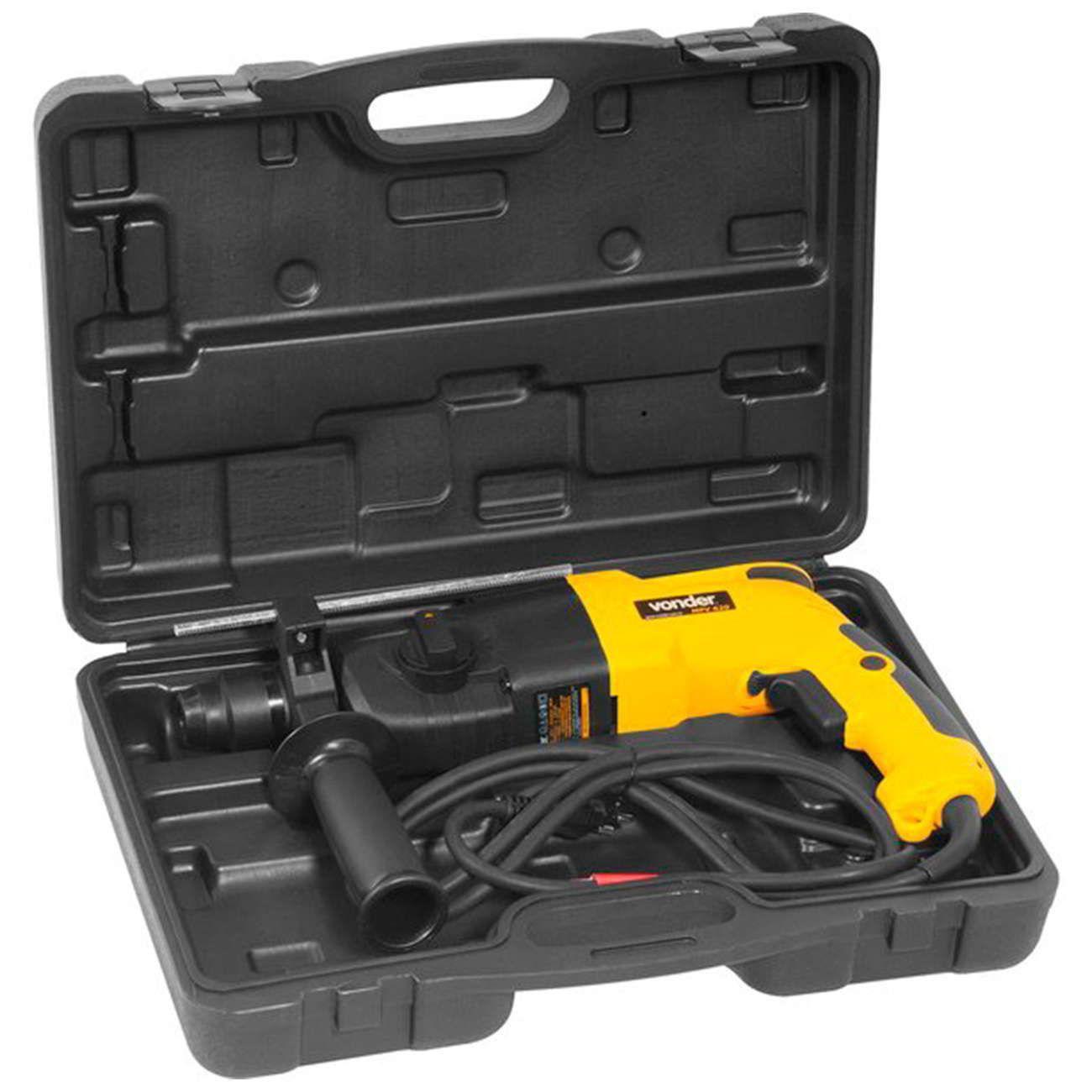 Martelete Perfurador e Rompedor 620 watts velocidade variável e reversível sds-plus - MPV620 110V