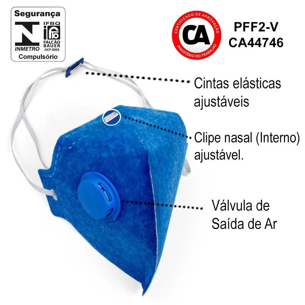 Mascara PFF2 Com Válvula ÁTOMOS - Pacote com 10 unidades