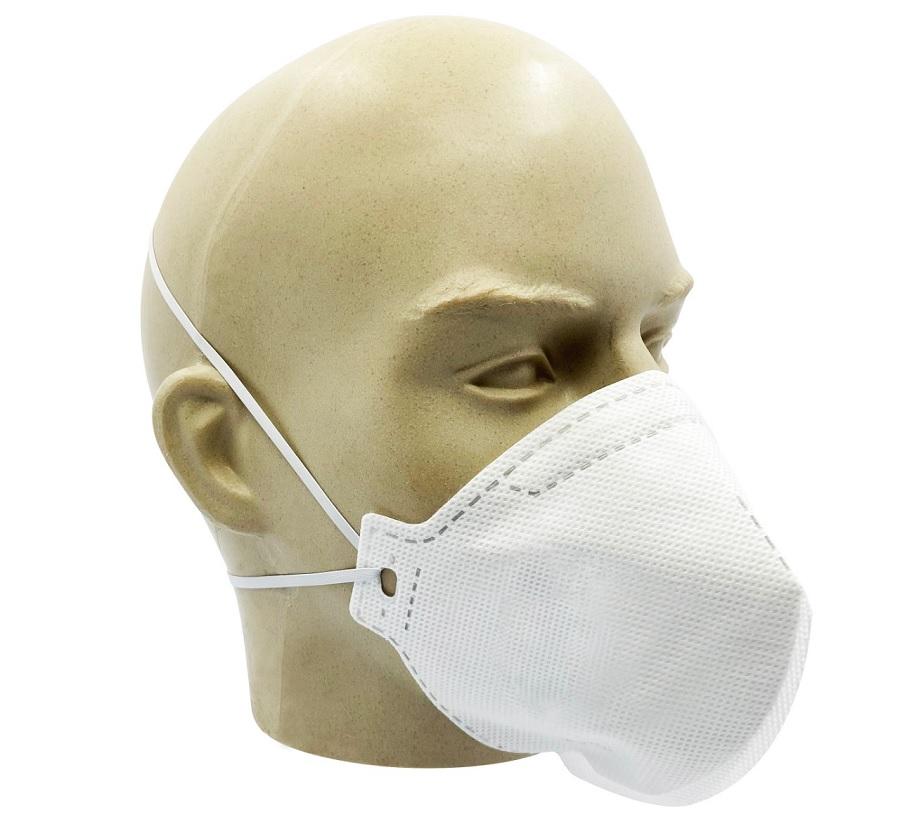 Mascara PFF2 Sem Válvula Branca - ÁTOMOS (Pacote C/10 unidades)