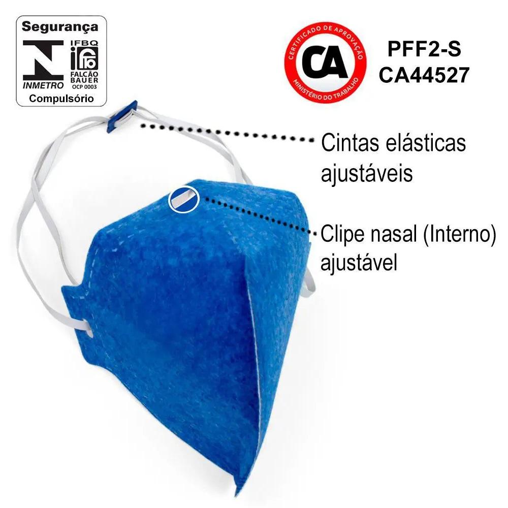 Mascara PFF2 Sem Válvula ÁTOMOS - Pacote com 10 unidades