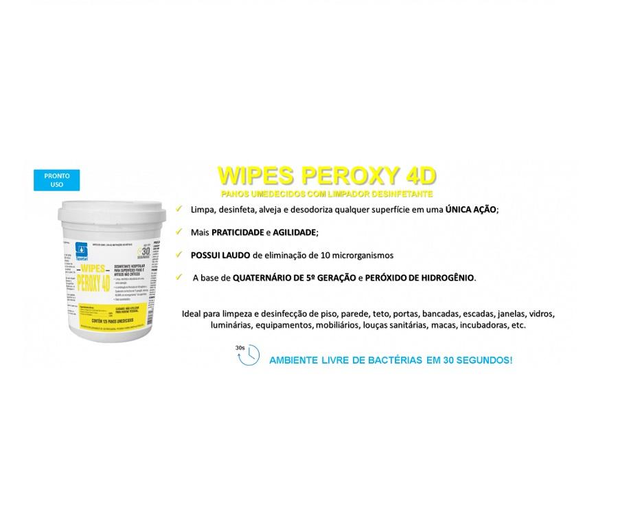 Panos Umedecidos Wipes Peroxy 4d - Spartan