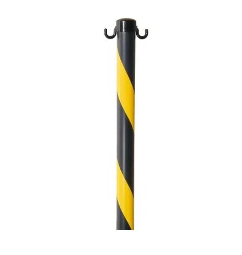 Pedestal Zebrado Preto/Amarelo 93cm