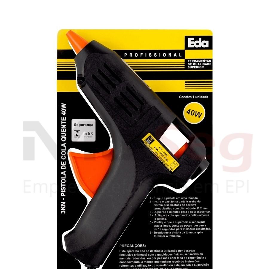 Pistola para Silicone 40W BV EDA