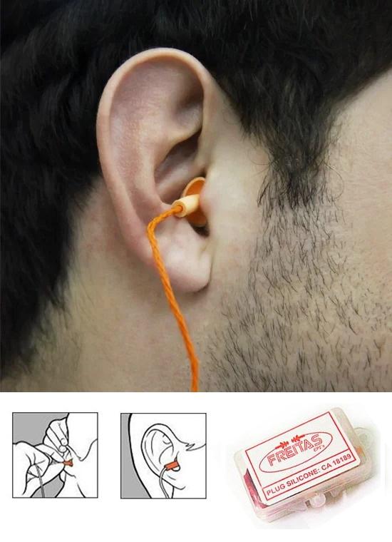 Protetor Auricular Plug Silicone (50 unidades)