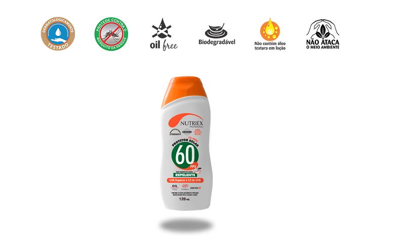 Protetor Solar FPS 60 com Repelente - Nutriex
