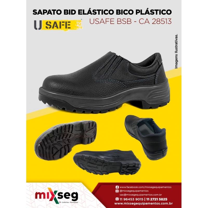 Sapato Bid Elástico Com Bico de PVC Usafe BSB