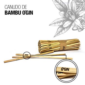 Canudo de Bambu O'GIN - 4un
