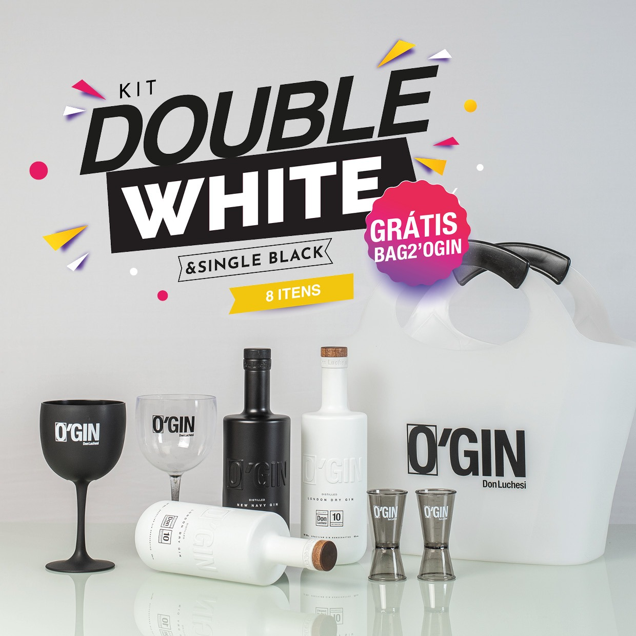 DOUBLE WHITE + SINGLE BLACK