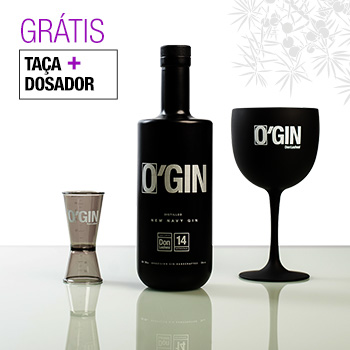 O'GIN NEW NAVY 700ml + TAÇA E DOSADOR GRÁTIS