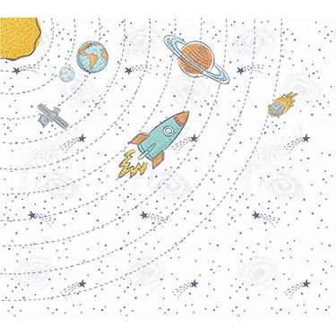 Espacial com fundo Branco