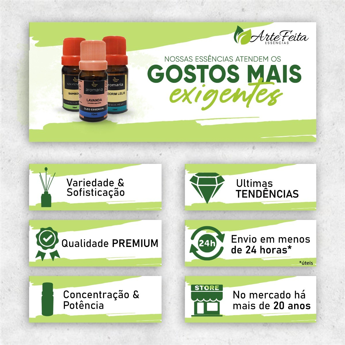 Kit 2 Essências Silver de 250ml