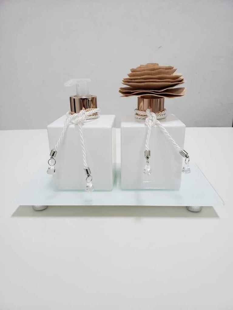 Kit Difusor Cube Branco 250ml
