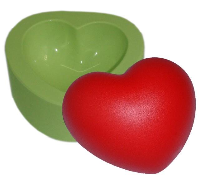 Molde de Silicone Coração Gordo