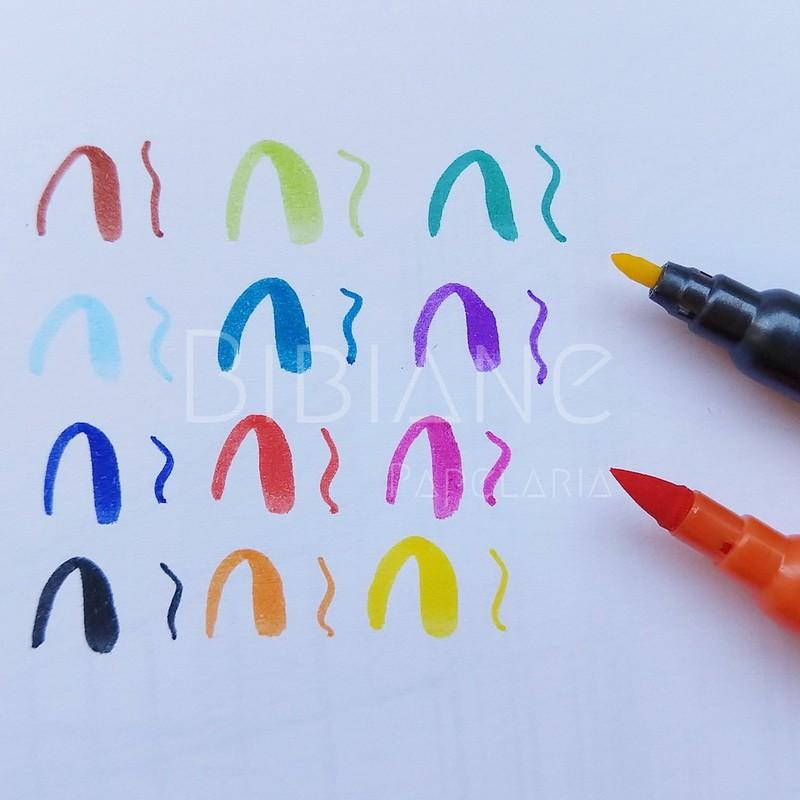 12 Brush Letter Duo Staedtler  - Bibiane Papelaria