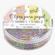 200 Mini Clips Coloridos BRW
