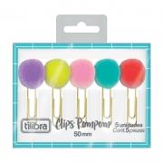 5 Clips Pompom Tilibra