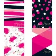 Caderneta Pautada Grande Love Pink Tilibra
