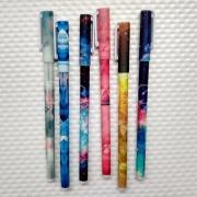 Canetas Coloridas Estampadas (6 unid.)