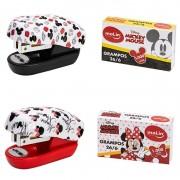 Mini Grampeador Mickey e Minnie (+ grampos)