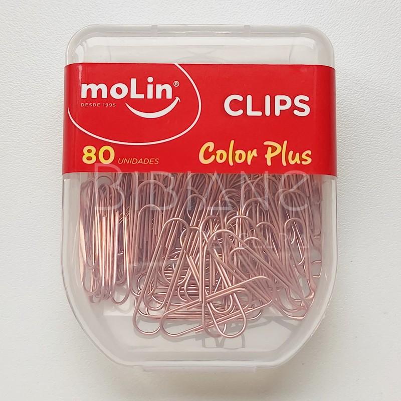 80 Clips 28mm Rose Gold  - Bibiane Papelaria