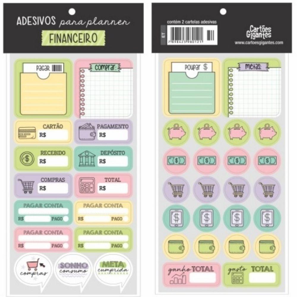 Adesivos p/ Planner Cartões Gigantes  - Bibiane Papelaria