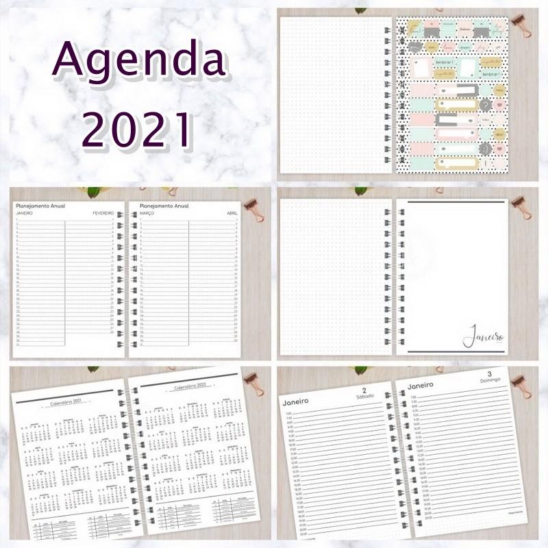 Agenda 2021 Personalizada  - Bibiane Papelaria