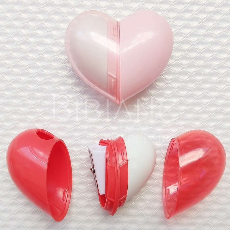 Apontador + Borracha Coração  - Bibiane Papelaria