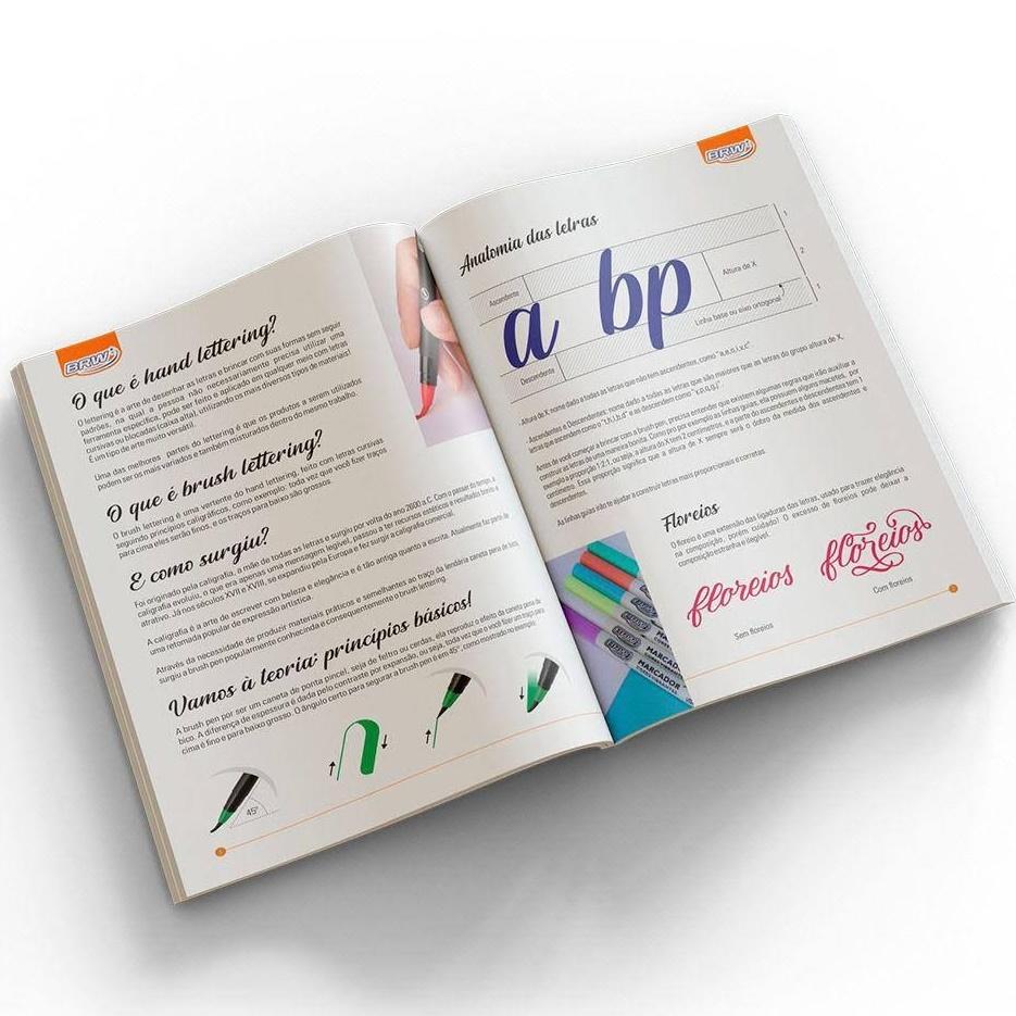 Apostila de Lettering BRW  - Bibiane Papelaria