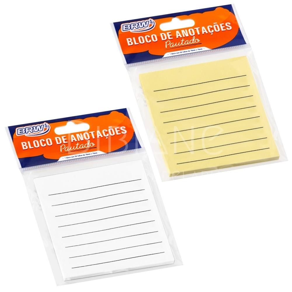 Bloco/Sticky Notes Pautado  - Bibiane Papelaria