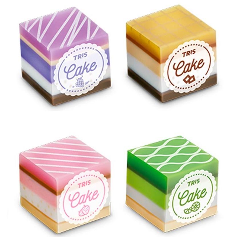 Borracha Cake Perfumada Tris  - Bibiane Papelaria