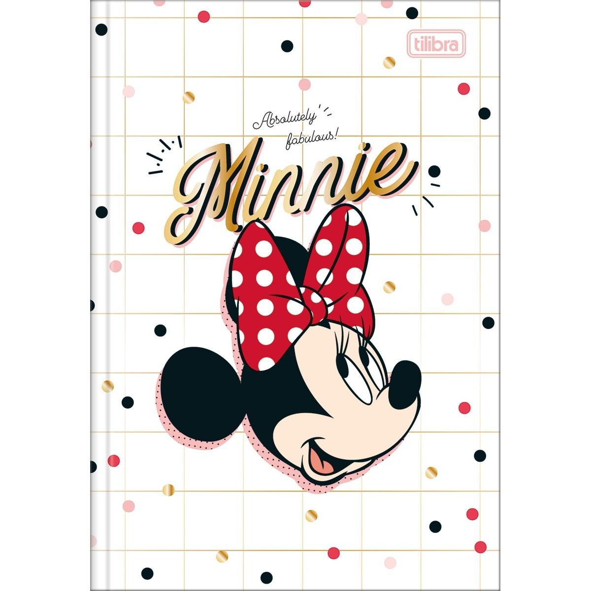 Caderno Brochura Capa Dura Minnie Tilibra  - Bibiane Papelaria