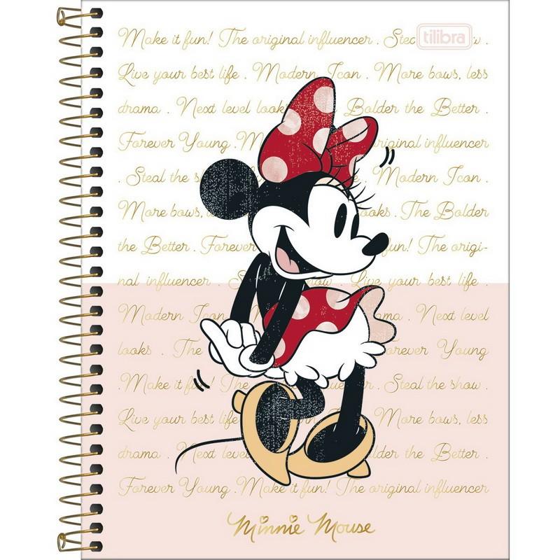Caderno Colegial Minnie Tilibra  - Bibiane Papelaria