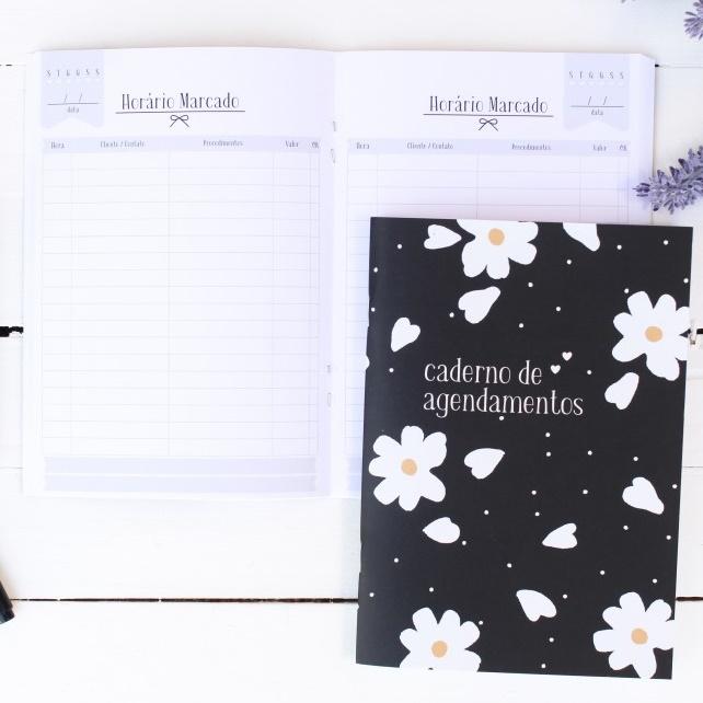 Caderno/Módulo/Caderneta Agendamentos Papelote  - Bibiane Papelaria