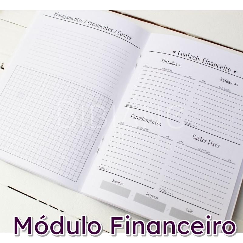 Caderno/Módulo/Caderneta Financeiro Papelote  - Bibiane Papelaria