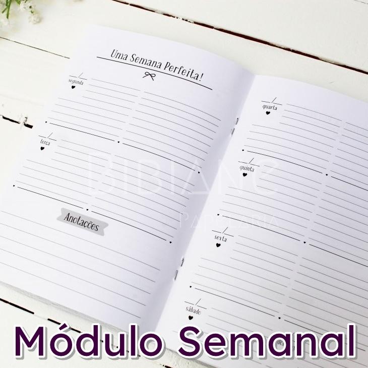 Caderno/Módulo/Caderneta Semanal Papelote  - Bibiane Papelaria