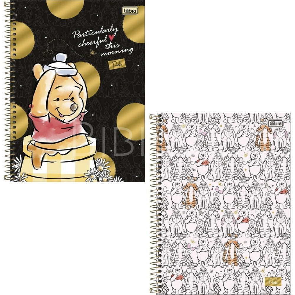 Caderno Universitário Pooh Tilibra  - Bibiane Papelaria