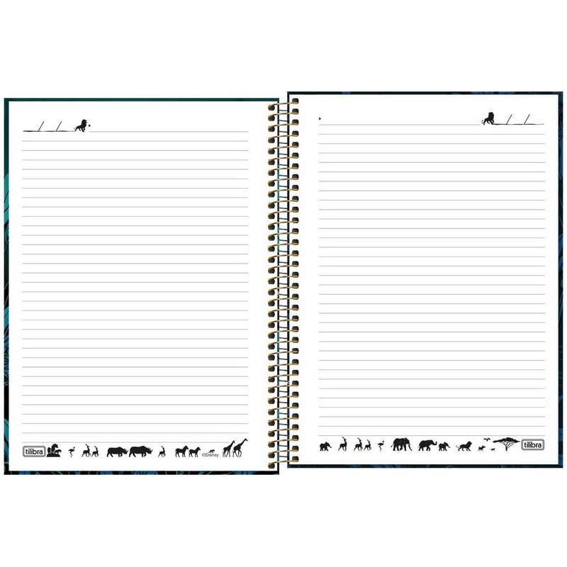 Caderno Universitário Rei Leão Tilibra  - Bibiane Papelaria