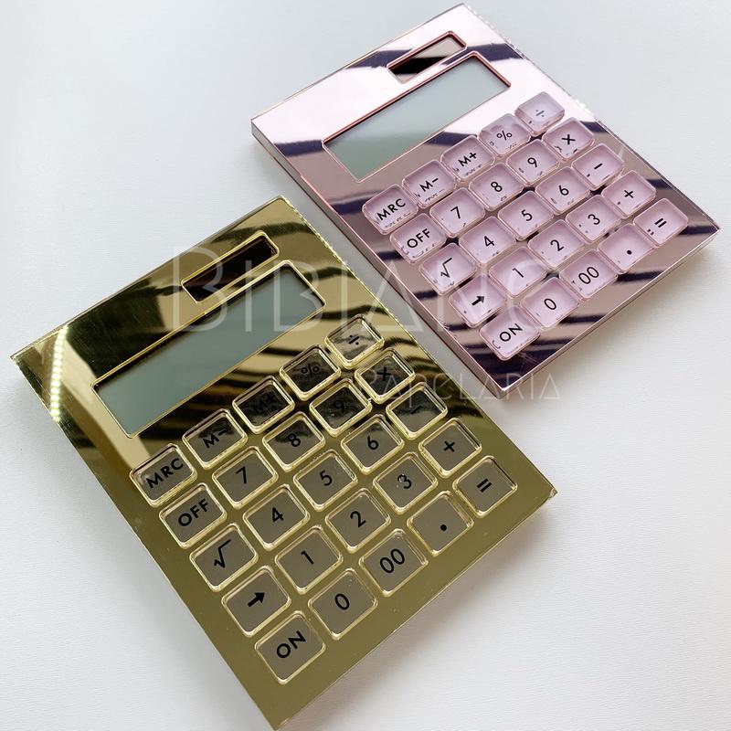 Calculadora Espelhada Luxo  - Bibiane Papelaria