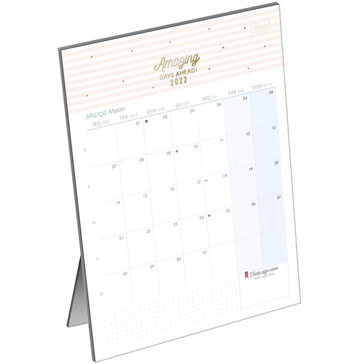 Calendário Planner de Mesa Tilibra  - Bibiane Papelaria