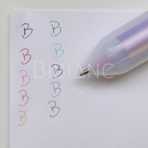 Caneta 10 cores  - Bibiane Papelaria