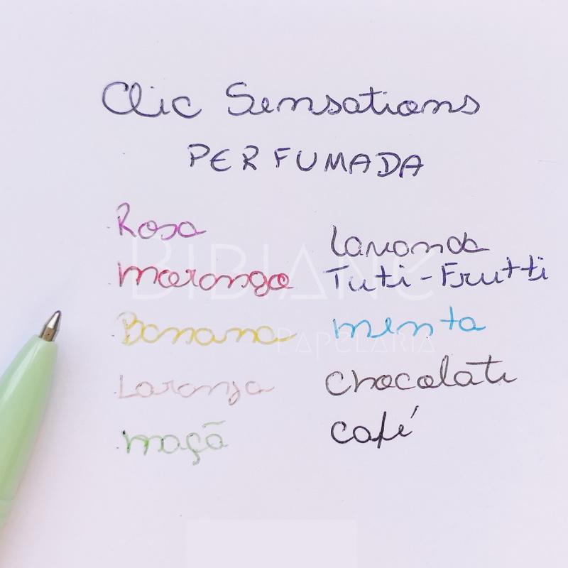 Caneta Clic Sensations Perfumada Newpen (Avulsa)  - Bibiane Papelaria