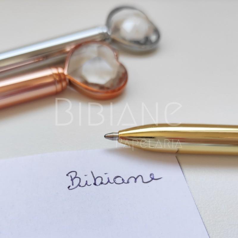 Caneta Coração Diamante  - Bibiane Papelaria