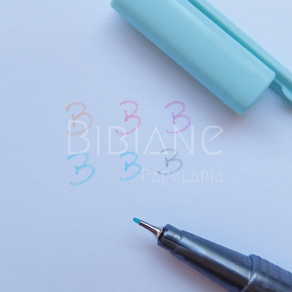 Caneta Fineliner Triplus 0.3mm 6 Pastel  - Bibiane Papelaria